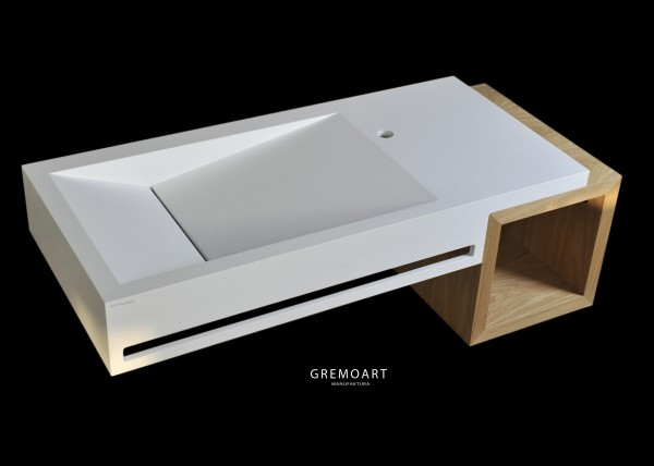 GremoArt umywalka kubik