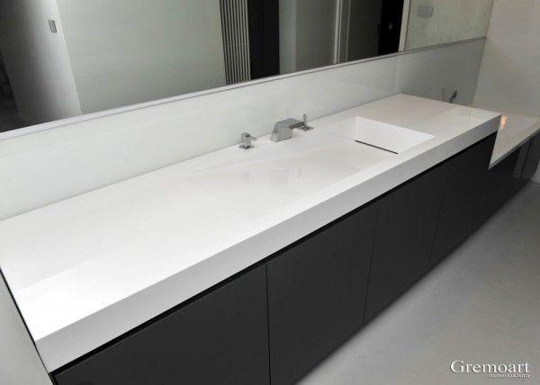 GremoArt duża umywalka z odpływem liniowym