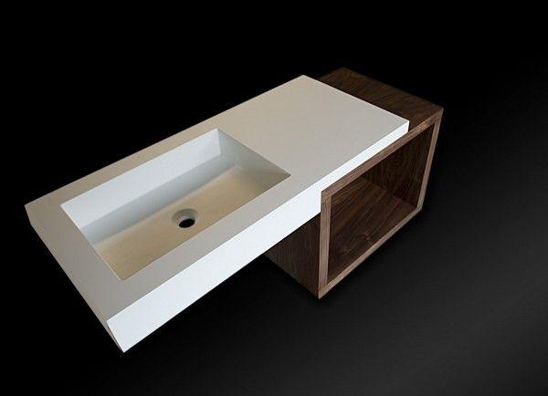 GremoArt Umywalka prostokątna nowoczesna
