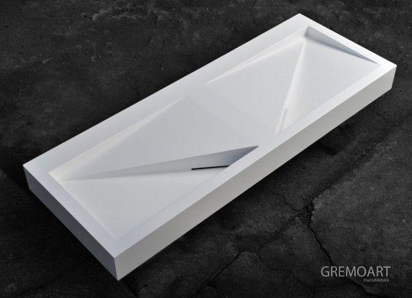 GremoArt umywalka liniowa trójkąty
